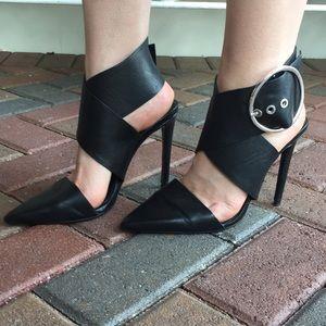 Zara Large Buckle Sleek High Heel